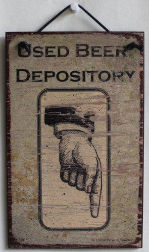 5x 8Schild Vintage Style (Vertikal der Nach Unten) Sagen,Bier Depository Dekorative Fun Universal Haushalts-Zeichen von Egbert 's Treasures (Antike Bier Zeichen)