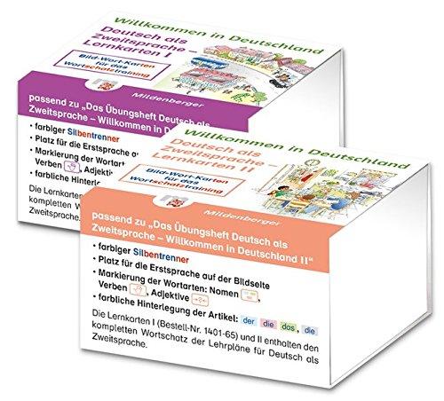 Preisvergleich Produktbild Willkommen in Deutschland - Lernkarten Deutsch als Zweitsprache I und II: Bild-Wort-Kärtchen für das Wortschatztraining