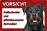 +++ ROTTWEILER - Metall WARNSCHILD Schild Hundeschild Sign - RTW 12 T6