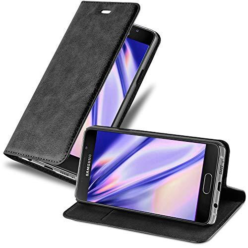 Cadorabo Custodia Libro per Samsung Galaxy A5 2016 in Nero di Notte - con Vani di Carte, Funzione Stand e Chiusura Magnetica - Portafoglio Cover Case Wallet Book Etui Protezione