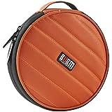 MagiDeal BUBM Portable 32 Disc Capacity DVD CD Case For Car Media Storage Bag Pouch Orange