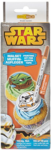 Dekoback Muffin-Aufleger Malset 16-teilig Star Wars, 1er Pack (1 x 38 g)