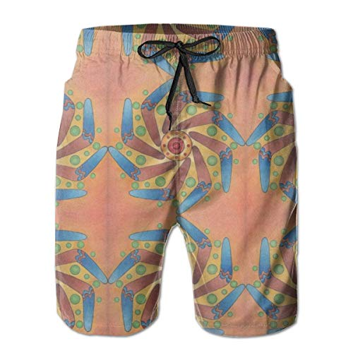 Diydeen Boomerang Sun Mandala_2850 Men\'s Board Shorts Swim Trunks Surf Beach Holiday Party Swim Shorts Beach Pants XXL
