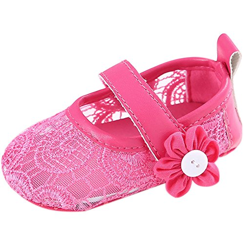 Fire Frog  Mary-jane-flats, Baby Mädchen Lauflernschuhe Hot Pink