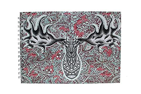 Pink Pig A4 Portrait Sketchbook | White Cartridge, 35 Leaves | Irish Elk