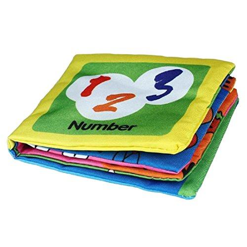 Libro de cognicion de imagenes - SODIAL(R) Libro de desarrollo de pano suave Libro de cognicion de imagenes de Inteligencia de aprendizaje de bebe(numeros)