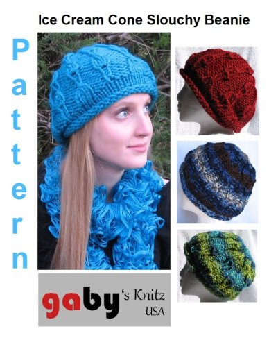 Ice Cream Cone Slouchy Beanie/Beret Pattern (English Edition) (Beret Knit Slouchy)