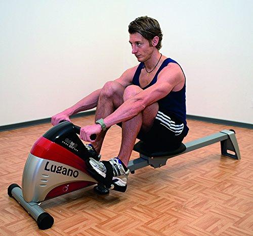 51gme6RJhrL - Christopeit Sport Unisex's Lugano Rower, Silver/red/Black, Medium