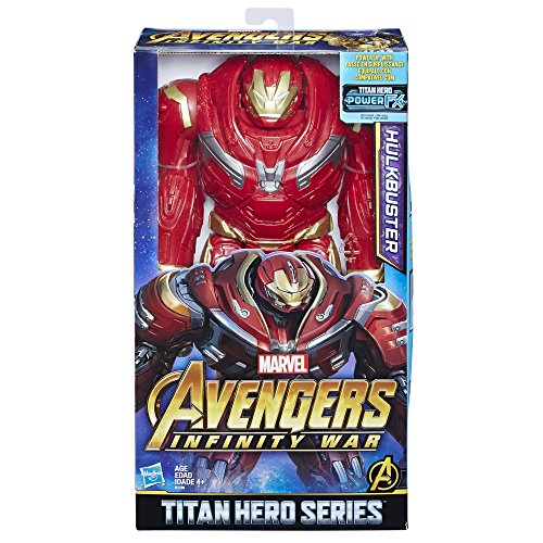 Hasbro Hulkbuster with Titan Hero Power FX Port Red Child 1 Piece (s) - Toy Figures for Children (Red, 4 year (s), Plastic, Child, Cartoon, Action / Adventure)