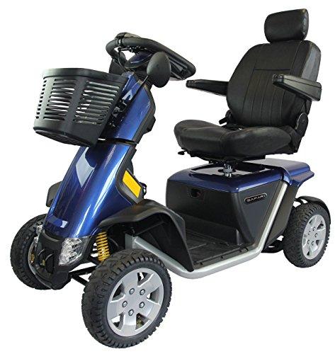 Elektromobil Scooter Safari, 4 Räder, 15 km/h, Elektro-Scooter mit Reichweite bis 70 km, 36 V, Vollfederung, Boardcomputer, bis 181 kg, 24 Monate Full Service vor Ort