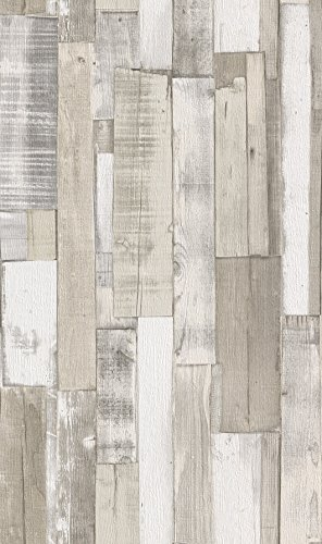 Rasch Tapeten–Papel pintado colección piedras y fino, color crema, 203714