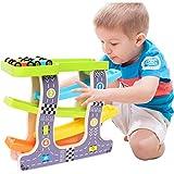 MaanZys Baby Puzzle Track Toy Kinderauto Segelflugzeug mit 4 Autos für 2,3,4,5,6 Jahre alte Kinder Jungen Geschenke -