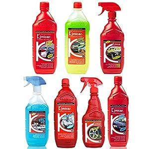 Kimicar Autopflege-Set: Shampoo Glasreiniger Detailer Felgenreiniger Snow Foam