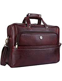 Hammonds Flycatcher Original Bombay Brown Leather 15.6 inch Laptop Messenger Bag (L=39,B=12, H=29 cm) LB163