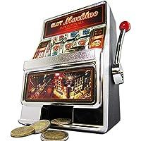 Preisvergleich für Monsterzeug Slot Machine Spardose - Einarmiger Bandit Spielautomat mit Sound und Licht, Kreative Verpackung Geldgeschenk, Höhe 19 cm
