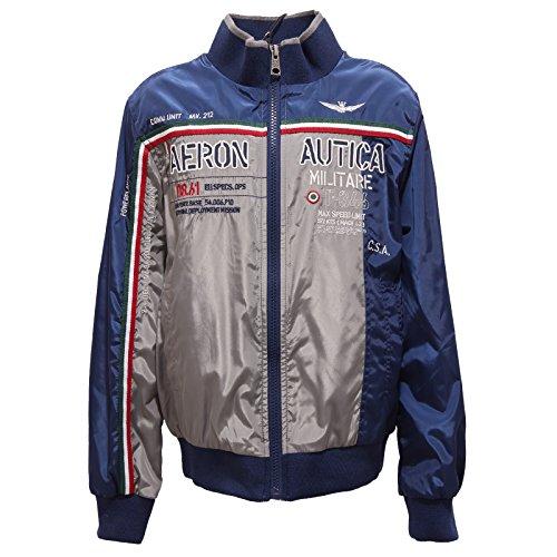 Aeronautica militare 5720r giacca antivento blu/grigio jacket kid [8 years]