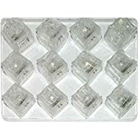 Underwater Glowing Ice Cube Color changing LeD Light Candle 12 pcs