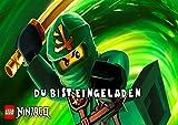 TV-24 Lego Ninjago Einladungskarten 12er Set inkl. 12 Umschläge E8