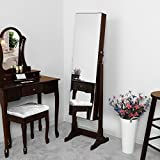 Songmics-Espejo-joyero-de-pie-Armario-con-espejo-Organizador-para-bisutera-Marrn-JBC103K