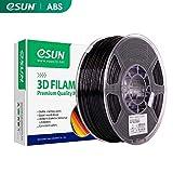 eSUN Filamento ABS per Stampante 3D, Filamento ABS 2.85mm, Precisione Dimensionale +/- 0.05mm, Bobina da 1KG (2.2 LBS) Filamento per Stampanti 3D, Nero