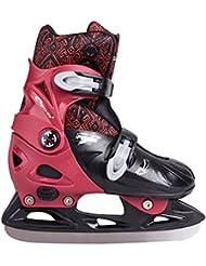 SPOKEY® PEEWEE Patines de hielo | Niños | Cuchillas de hockey | Acero inoxidable | Tamaño ajustable | 29-32 | 33-36, Color:rojo;Spokey Größen:33-36