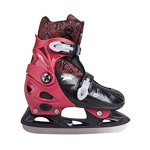 SPOKEY® PEEWEE Patins à glace | Enfants | Lames de Ice hockey | Acier inoxydable | Taille réglable | 29-32 | 33-36