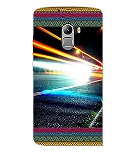 PrintDhaba Lightening D-4642 Back Case Cover for LENOVO VIBE X3 LITE (Multi-Coloured)