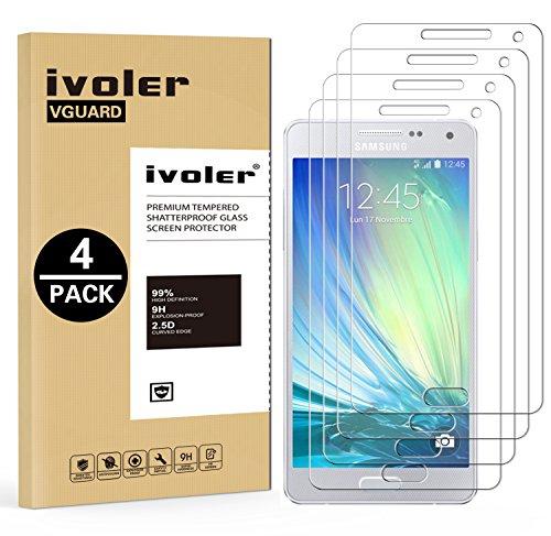 iVoler [4 Pack] Vetro Temperato Compatibile con Samsung Galaxy A5 2015 [Garanzia a Vita], Pellicola Protettiva, Protezione per Schermo