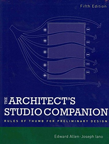 [(The Architect's Studio Companion : Rules of Thumb for Preliminary Design)] [By (author) Edward Allen ] published on (January, 2012)