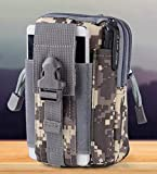 Divinext Tactical Molle Pouch EDC Utility Gadget Belt Sports Waist Bag with Cell