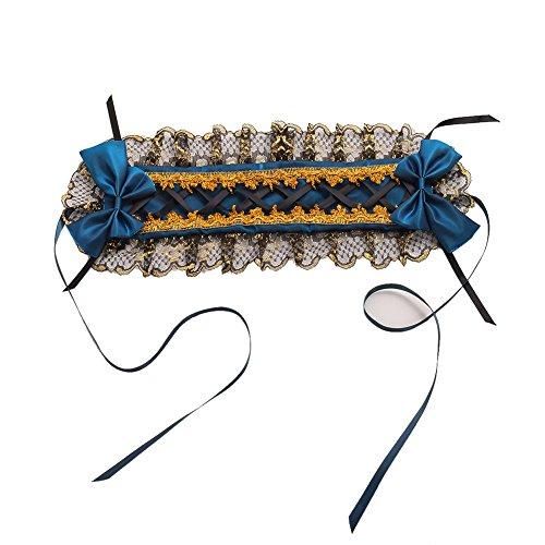 GRACEART Frauen Dienstmädchen Bowknot Stirnband Kopfschmuck (Blau)