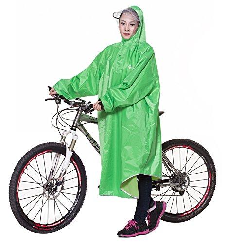 Ommda  Bike Fahrrad Regenjacken Regenponcho Wasserdicht Regenmantel für Die Jagd Camping Freizeit Regenmäntel Regencape Grün 3XL