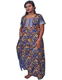 AISNIGHA Womens bulel Print Cotton Nighty 5047