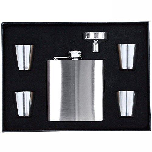 my-mr-flagon-super-classy-pocket-flask-for-wine-with-funnel-and-4-shot-glasses-elegant-flask-set-wit