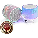 Elevea S10 Bluetooth Speakers With Calling Functions & FM Radio For Android/iOS Devices-Color May Vary (1 Year Warranty)