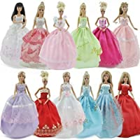 1x Barbie Sindy doll's ball gown princess fairy wedding dress & 1 pair of shoes/boots - posted from London by Fat-Catz