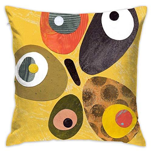 Sotyi-ltd 50er 60er Jahre Stil Retro Bunte Design Home Dekorative Überwurfkissen Kissenbezug für Zuhause Couch Bett Auto 45,7 x 45,7 cm -