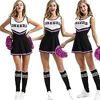 FXC - Disfraz de animadora para chicas con uniforme de fiesta de jazz, para mujer y niña
