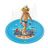 GGreenary Unterhaltungs-Wasser-Spritzen-Auflage PVC der Kinder im Freien umweltfreundliche aufblasbare Sprinkler-kühler Sommer (Color : Blue)