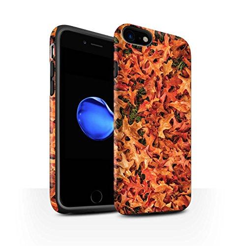STUFF4 Matte Harten Stoßfest Hülle / Case für Apple iPhone 8 / Weißdorn/Rot Muster / Herbstblätter Kollektion Weißdorn/Rot