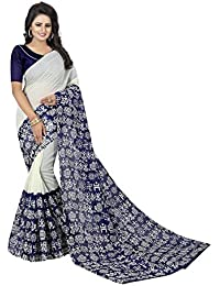MAC Sarees Women's Cotton Silk Saree With Blouse Piece (MAC58_Blue)