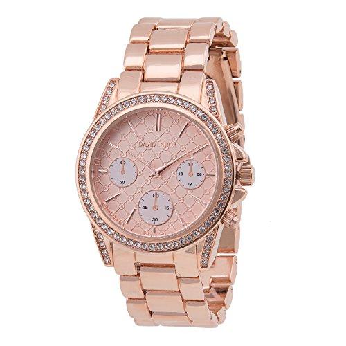 David Lenox Damen Armbanduhr Roségold DL0120