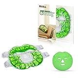 """Kühlpads Coolpacks Gel Gesichtsmaske Kältemaske Kühlmaske Entspannungsmaske für Gesicht Wiederverwendbar Gesicht Kalt Warm Kompresse Kühlkissen - (7,8""""x 7,8"""")"""