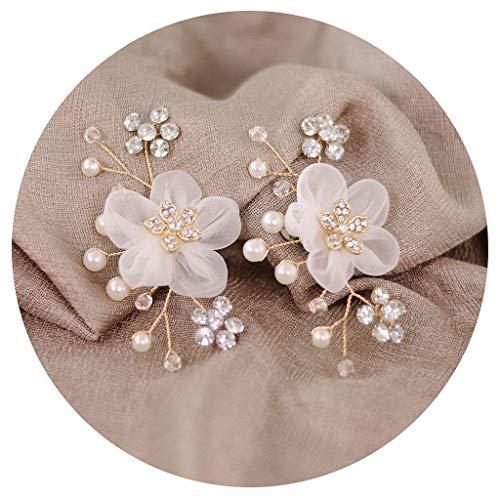 A0127 Schuhclip Floral Simulierte Perle Mini Dekoration DIY Frauen Sandalen Charme Kleidung Schmuck Blume Clips Schuhe Schnalle Mode Elegante Accessoires