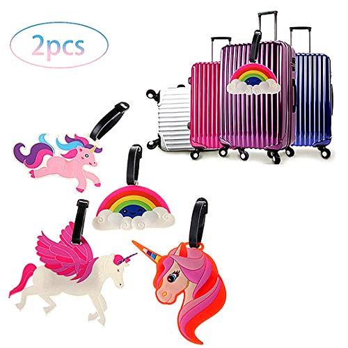 Viaje 2 Piezas Equipaje Unicornio Etiquetas identificación
