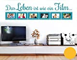 Klebefieber Wandtattoo Wie Ein Film B x H: 159cm x 40cm Farbe: Gelb