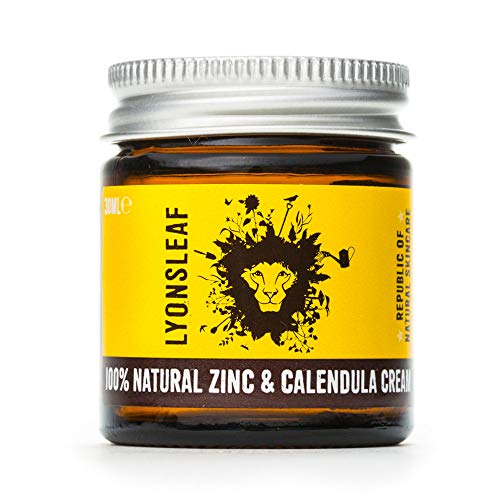 Zinc and Calendula Cream 100% Natural - for Spots, Blemishes, breakouts, rashes, Problem Skin and Nappy Rash ... (30ml)