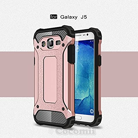 Galaxy J5 Coque, Cocomii Commando Armor NEW [Heavy Duty] Premium Tactical Grip Dustproof Shockproof Hard Bumper Shell [Military Defender] Full Body Dual Layer Rugged Cover Case Étui Housse (Rose Gold)