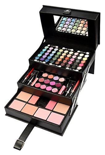 Briconti Schminkkoffer Beauty Case, schwarz, 1er Pack