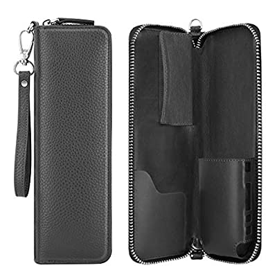 Luxspire iQOS E-Cigarette Case, Zipper Portable PU Leather E-cig Carrying Case Travel Holder Organizer with Wrist Strap for iQOS Electronic Cigarette & Accessories by Luxspire
